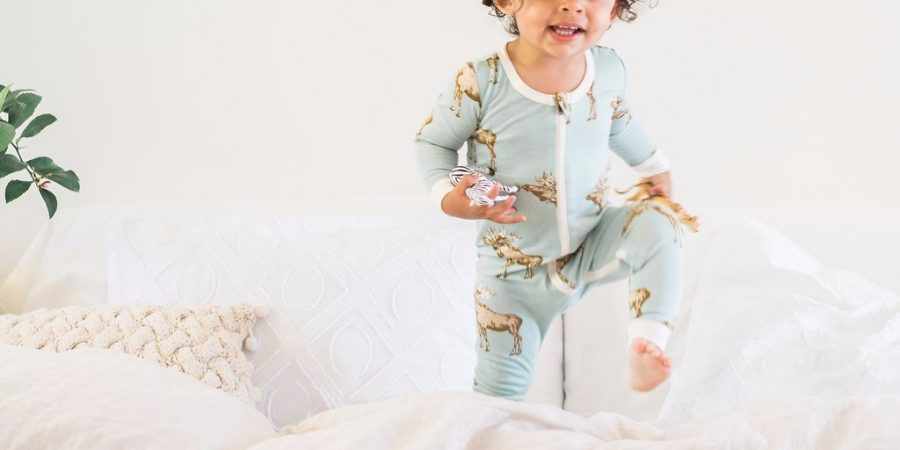 Bamboo Zipper Pyjama - Blue Moose